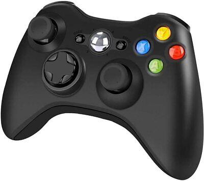 🎮Wireless Controller for Xbox 360 2.4GHZ Gamepad Joystick for PC Windows(Black)