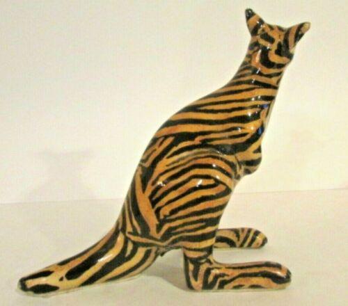 Decorative Striped KANGAROO Figurine