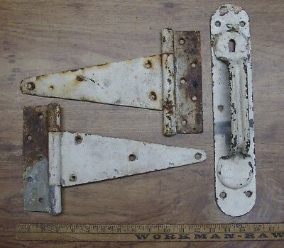 2 Rusty,Crusty Tee Hinges,& Huge 14-9/16