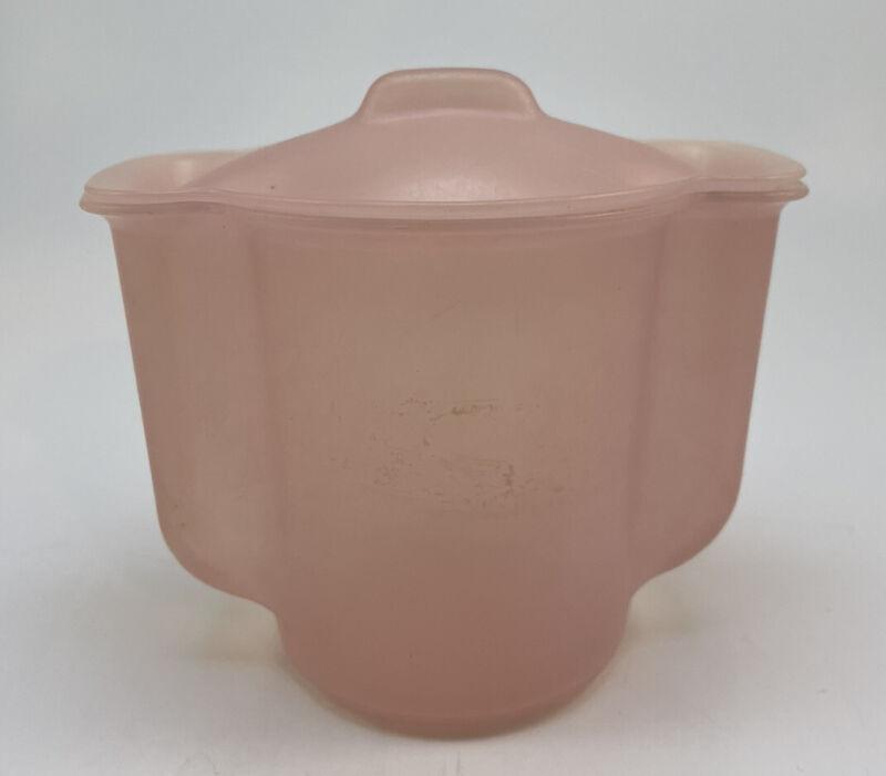 Vintage Tupperware Millionaire Line Pink Sugar Bowl with Lid