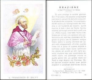 HOLY-CARD-SANTINO-IMAGE-PIEUSE-S-SAN-FRANCESCO-DI-SALES-ORAZIONE