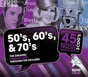 Sing to the World Karaoke Hits of 50s, 60s & 70s - 3 CD+G discs (45 tracks)