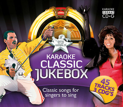 Sing to the World Karaoke Classic Jukebox - 3 CD+G discs (45 tracks)