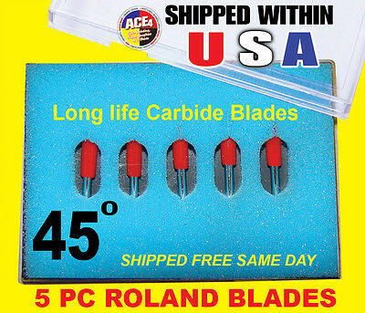 10 Pc - 45 Degree Roland Blades - Sp-300 Sp-540 Vs-300 Vs-540 Vs-640 Gx-24