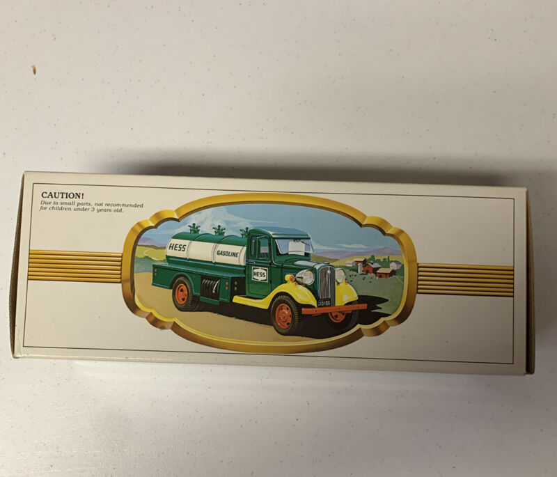 Vintage 1982 First Hess Oil Delivery Truck Toy Bank