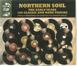 NORTHERN SOUL THE EARLY YEARS - 4 CD BOX SET - 100 CLASSIC & RARE TRACKS