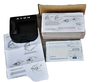 Vtg Manual Avon Credit Card Imprinter Wbox Slips Newunused Addressograph 990