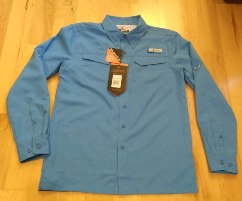 Habit Youth Blue Button Front Shirt Size L NWT
