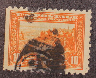 Scott 404 - 10 Cents Panama Pacific - Used - Perf 10 - Big Stamp - SCV - $70.00