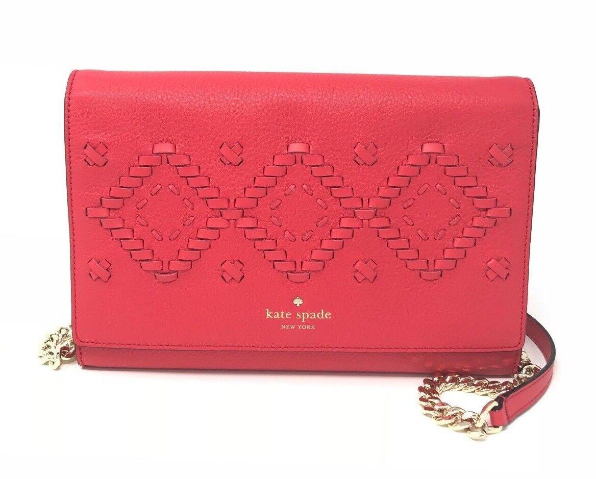 Kate Spade Flynn Street Valencia Prickly Pear Leather Crossbody Bag