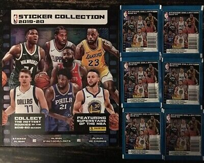 2019-20 PANINI NBA STICKERS WITH ALBUM 6 PACKS comprar usado  Enviando para Brazil