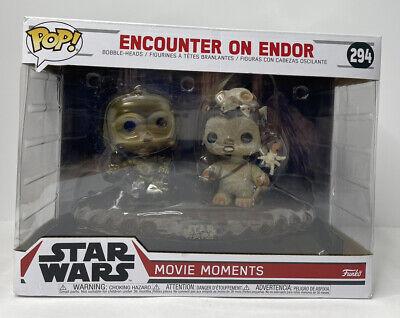 Funko Pop #294 | Encounter on Endor | Star Wars movie Moments Vinyl Scene | Read