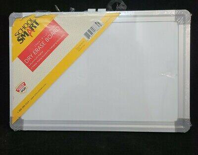 School Smart Magnetic Dry-erase Board 8 X 12 In Aluminium Frame Hooks Read