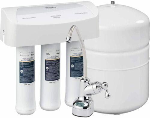 New Long Life Whirlpool Reverse Osmosis(RO) Filtration System With Chrome Faucet