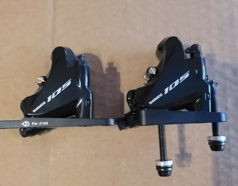 Shimano 105 set of hydraulic calipers BR-R7070 flat base (160 rotors n/included)