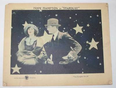 Scarce original 1922 lobby card: Hope Hampton in Stardust; tinted card.