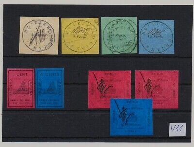 British Guiana - unsorted lot of forgeries , replicas, fakes and oddities #v11