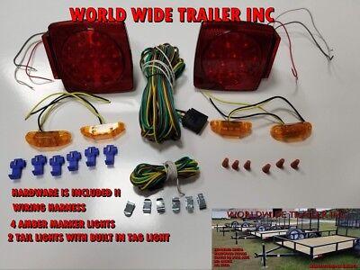 Trailer LED Light Kit (Brake,Turn,Marker,Harness,Hardware)