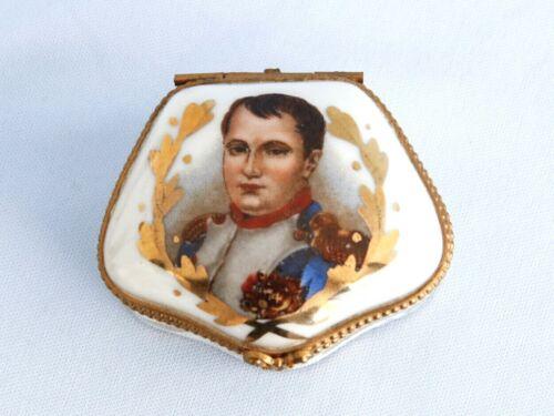 Vintage Porcelain French Limoges Napoleon Box  Empire Waterloo War Battle