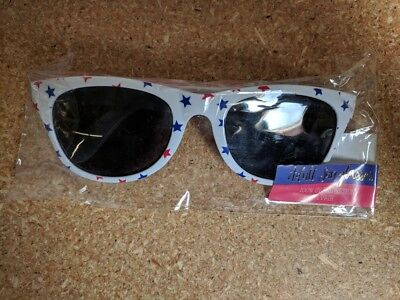 Adult Sunglasses Tinted Lens Glasses Blue and Red stars Partiotic (Red Star Sonnenbrille)