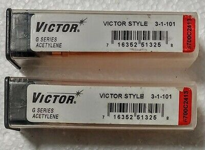 Pack Of 2 Victor 3-1-101 G Series Cutting Torch Tips For Oxyacetylene Torch