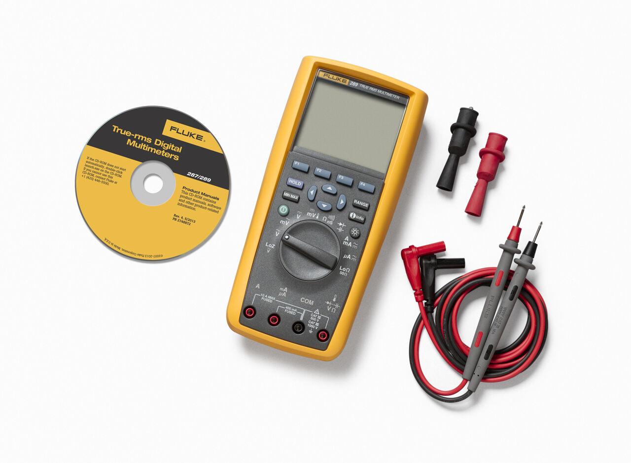 Fluke 289 Trms Industrial Logging Multimeter Complete W Accessories Zircon Breaker Id Professional Circuit Finder Tool Kit64058 The