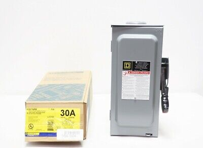 Square D H361nrb 3p 30a Amp 600v-ac Fusible Safety Switch