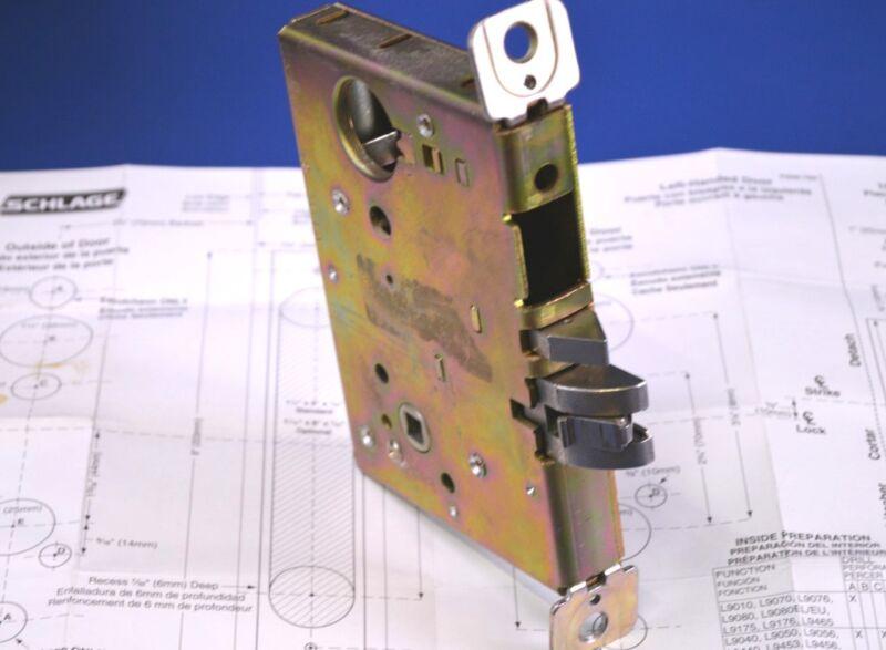 Slage Electronically Controlled Single Pt. Mortise Lock L9080 24V