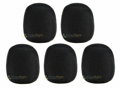 NEW 5 Pack High Quality Microphone Windscreen Filter 5 Black Covers USA