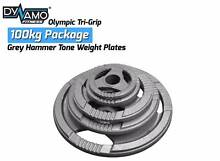 Weight Plates Olympic Grey Hammer tone Tri-Grip 100kg Package Malaga Swan Area Preview