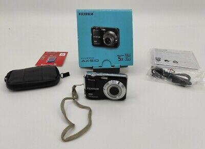 Fujifilm FinePix AX510 14.0 mp Digital Camera Black Boxed Tested Working