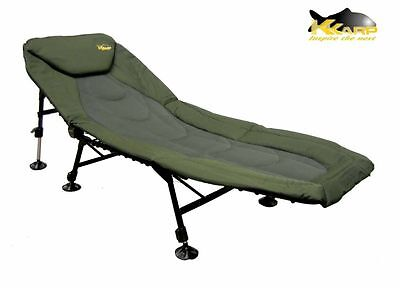 19110060 Lettino K-Karp Cayenne Bedchair 6 Gambe Fast Lock Pesca Carpa   PPG