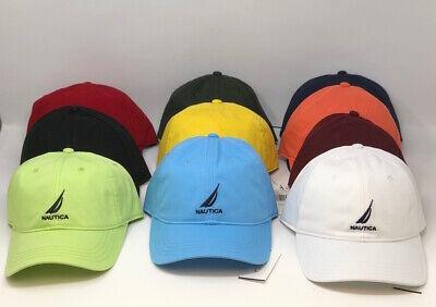 New With Tags Nautica Men Adjustable Logo Baseball Hat Cap - Choose color
