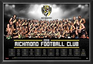 Richmond Football Club 2016 Official AFL Team Print Framed ...