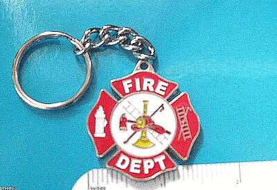 Additional Chain -  FIRE DEPARTMENT - keychain /with additional heavy duty key chain GIFT BOXED