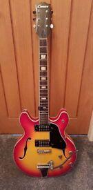 Guitar genuine 1970s Commodore semi accoustic