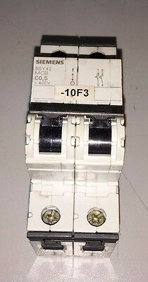 Siemens 0.5A Circuit Breaker, 5SY42, MCB, C0.5,  Used, Warranty