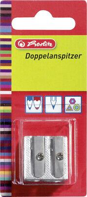herlitz Doppelanspitzer Metall - Keilform, für 6,9; 9,6 Stiftdurchmesser