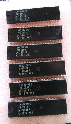 Vintage  AMD / Intel P8080a P8080 Processor (6) PCS