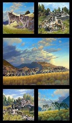 "Elizabeth's Studio North American Wildlife Cotton fabric by the panel 24"" X 43"""