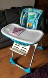 Chicco padded high chair