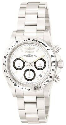 Invicta Mens 9211 Speedway Collection Stainless Steel Chronograph Watch W/ Link