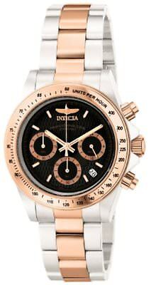 Invicta Mens Speedway Professional Collection 18k Rose Gold-Plated and Stainless