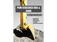 Top quality screened soil & Sand