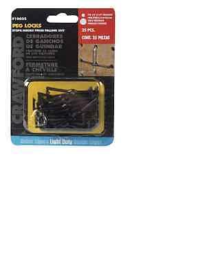Crawford 18025 Peg Hook Locks 18 X 14 Pack Of 25