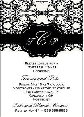 Rehearsal Dinner Custom Invitation
