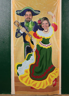 Mariachi Fiesta Photo PROP Door Banner party pics Spanish Mexican Cinco De Mayo](Door Props)