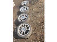 """Set of 4 18"""" Bmw mv2 alloy wheels with tyres"""