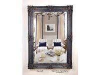 Large Ornate Navy and Gold Mirror