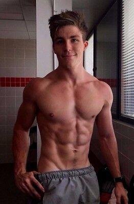Shirtless Male Beefcake Muscular Jock V Lines Abs Cute Dude Jock PHOTO 4X6 D293